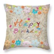 Happy Birthday 2 Throw Pillow