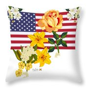Happy Birthday America 2013 Throw Pillow by Anne Norskog