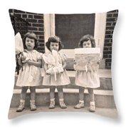 Happy Birthday Retro Photograph Throw Pillow