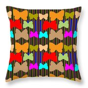 Happy Butterfly Dance Art For Kids Room  Daycare Playroom School Kindergarden Digital Graphic Signat Throw Pillow