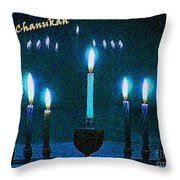 Happy Chanukah Throw Pillow