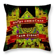 Happy Christmas From Sydney Throw Pillow