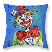 Happy Clown-ideal For Childrens Nurserys Throw Pillow