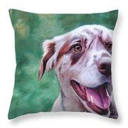 Happy Dog Throw Pillow