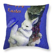 Happy Easter Card 3 Throw Pillow
