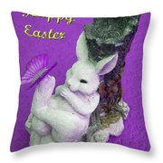 Happy Easter Card 4 Throw Pillow