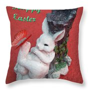Happy Easter Card 5 Throw Pillow