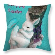 Happy Easter Card 6 Throw Pillow