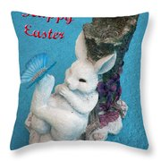 Happy Easter Card 7 Throw Pillow