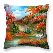 Happy Ever After Autumn  Throw Pillow