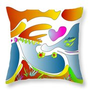 Happy Face Of Spring Throw Pillow