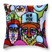 Happy Faces Happy Places New York Throw Pillow