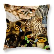 Happy Family Throw Pillow by Frozen in Time Fine Art Photography