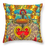 Happy Father's Day Anchor And Ship Throw Pillow