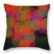 Happy Grapes Throw Pillow