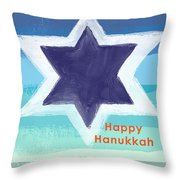 Happy Hanukkah Card Throw Pillow