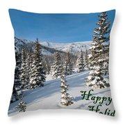 Happy Holidays - Winter Wonderland Throw Pillow