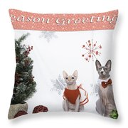 Happy Holidays 105 Throw Pillow