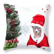 Xmas Holidays Greeting Card 108 Throw Pillow