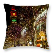 Happy Holidays Downtown Denver Co Throw Pillow