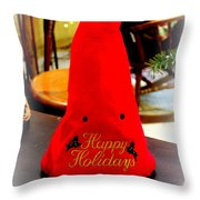 Happy Holidays Greeting Throw Pillow