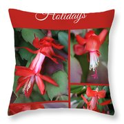 Happy Holidays Natural Christmas Card Or Canvas Throw Pillow