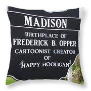Happy Hooligan Throw Pillow