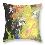 Happy Hour At The Zoo Throw Pillow