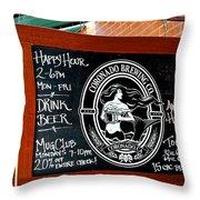 Happy Hour In Coronado Throw Pillow