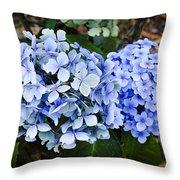 Happy Hydrangea Throw Pillow