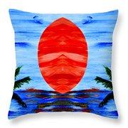 Happy Island Throw Pillow