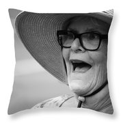 Happy Lady Throw Pillow