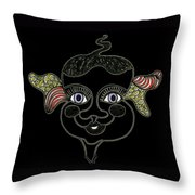 Happy Licorice Girl Throw Pillow