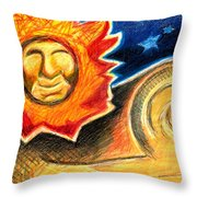 Happy Lion Throw Pillow