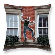 Happy Man Throw Pillow