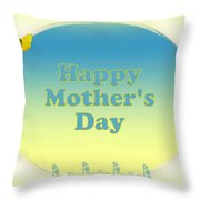 Happy Mother's Day Card Throw Pillow