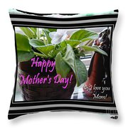 Happy Mother's Day I Love You Mom Throw Pillow