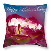 Happy Mother's Day Red Pink White Rose Throw Pillow
