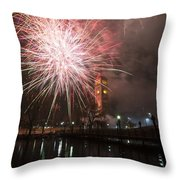Happy New Year 2014 B Throw Pillow