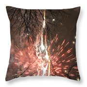 Happy New Year 2014 Three Throw Pillow