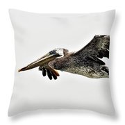 Happy Pelican Throw Pillow