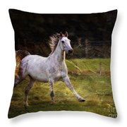 Happy Run Throw Pillow