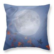 Happy Samhain Moon And Veil  Throw Pillow