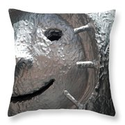 Happy Sculp Right Throw Pillow