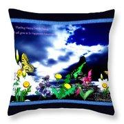 Happy Seeds Inspiration Throw Pillow