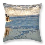 Happy Shorebird Throw Pillow