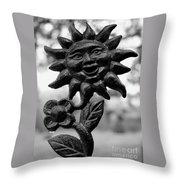 Happy Sun Throw Pillow