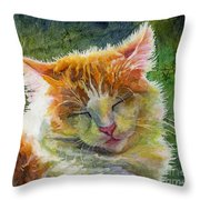 Happy Sunbathing 2 Throw Pillow