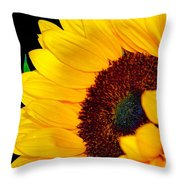 Happy Sunflower Throw Pillow
