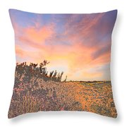 Happy Sunset Throw Pillow